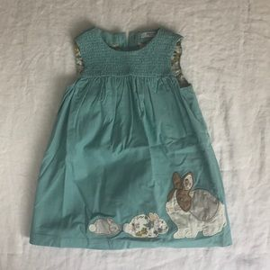 BABY BODEN animal appliqué corduroy pinafore